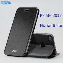 Huawei P8 Lite 2017 Case Чехол Huawei Honor 8 Lite Case чехол Искусственная Кожа Flip Case Стенд Capa Coque принципиально черного и золотого цвета розовый 5.2″