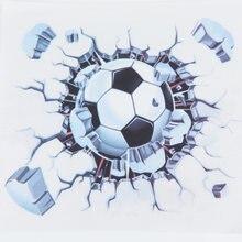 19*19 cm samoprzylepne DIY wymienny 3D piłka do piłki nożnej piłka nożna ściany samochodu nadwozie motocykla naklejka naklejka Vinyl Car Styling