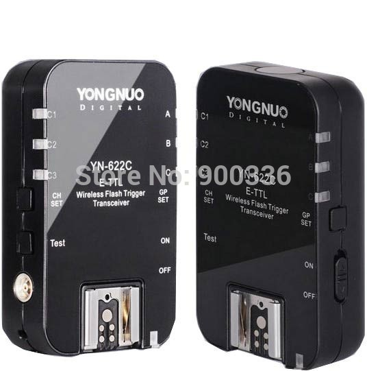 Yongnuo YN-622C YN 622C Wireless TTL Flash Trigger for Canon 1100D 1000D 650D 600D 550D 7D 5DII 40D 50D yongnuo yn 622c yn 622 wireless ettl hss 1 8000s flash trigger 2 transceivers for canon 1100d 1000d 650d 600d 550d 7d 5dii 40d