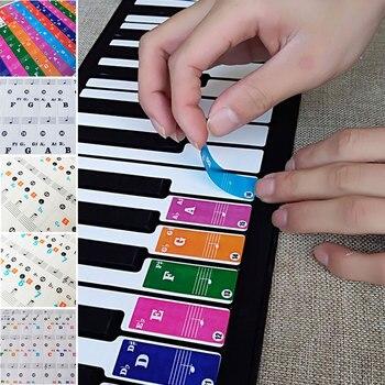 Keyboard Sticker Piano Stickers Transparent 37/49/61/88 Keys Music Children Gift Teaching Electronic Organ Beginner Creative