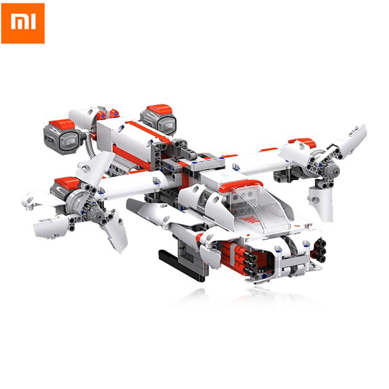 Xiaomi MITU Robot DIY Mobile Phone Control Self-Assembled Robot Building Kits Toys For Children STM32 CPU Cool Builder Robot xiaomi mitu intelligent story robot fairy tale happy children s songs english enlightenment rabbit brinquedos educativos