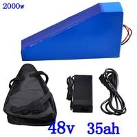 48V 1000W 2000W Driehoek Batterij Pack48V 35AH Elektrische Fiets Batterij 48V 34ah Lithium Batterij Gebruik Lg mobiele Met 50A Bms + 5A Charger