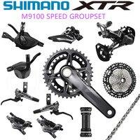 SHIMANO DEORE XTR M9100 Groupset MTB Bicycle 2x12 Speed M9100 Rear Derailleur XTR Shift Cassette 10 45T M9120 brake Groupset