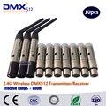 Бесплатная доставка DHL  7 шт.  2 4G мини беспроводные dmx512 приемники и 3 шт.  2 4G беспроводной DMX512 приемопередатчик
