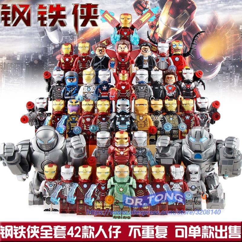 Blocks Model Building Lovely 50pcs Marvel Avengers Endgame Doctor Strange Black Widow Hawkeye Pepper Rocket Raccoon Figure Building Block For Children Toy