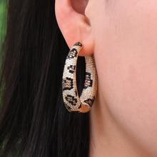 missvikki New Design Hot 2019 Leopard Hoop Earrings Women Bridal Wedding Party Occasion Top Shiny Cubic Zirconia Jewelry