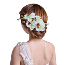 kai yunly 1PC Womens Flower Hair Clip Hairpin Bridal Hawaii Party Light Green Aug 24