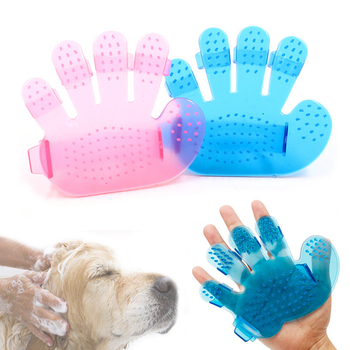 Adjustable Pet Dog Cat Bath Brush Glove New Pet Dog Cat Fingers Brush Hand Shampoo Grooming Bath Massage  Brush Comb
