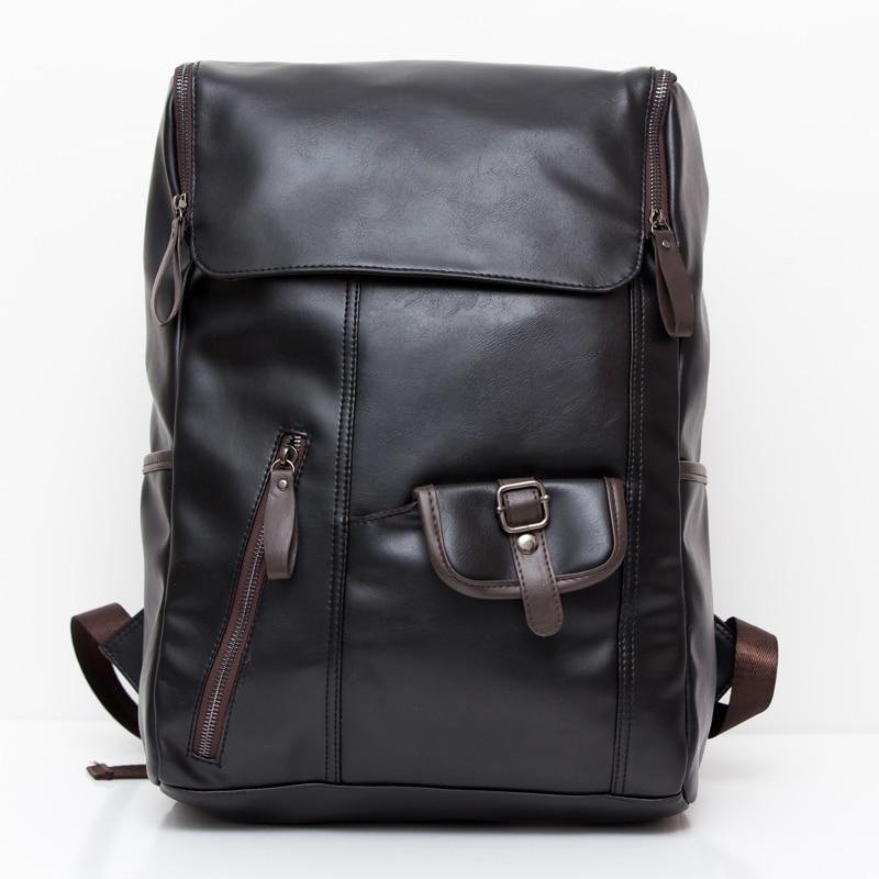 ФОТО New designer 2016 Good Quality Men Backpack Large Capacity Brand Men Leather Backpack Travel School Backpack For Men LI-595