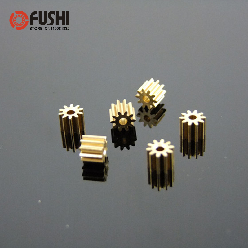 81A Brass Gear Pore 0.97 mm For Shaft 1mm ( 10 Pcs ) 8 Teeth Motor Shaft Gears Modulus 0.4 DIY Toys RC Model Cars image