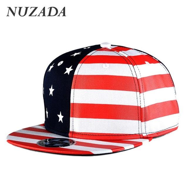 Brands NUZADA Snapback  Sports Hip Hop Hats Fashion Men Women Baseball Caps Bone Cap Classic Color Stars Stripes jt-006