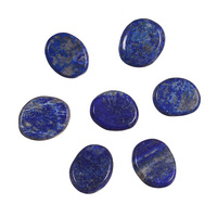 Lapis Set Polished Palm Stone Sold By 7pcs With One Pouch Engraved Chakra Crystal Reiki Healing