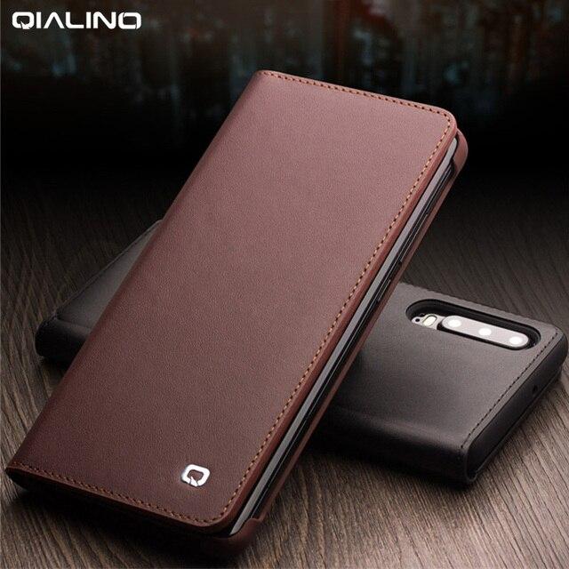 اليدوية جلد طبيعي حافظة لهاتف Huawei P30 برو VOG L09 VOG L29 حالة محفظة حقيبة بفتحة لإخراج البطاقة فليب غطاء لهواوي P30Pro غطاء