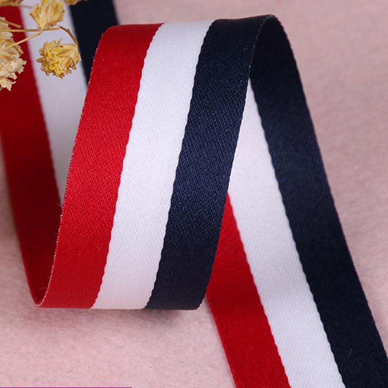 Купить 45 м/рулон модная цветная полиэфирная полосатая лента красная