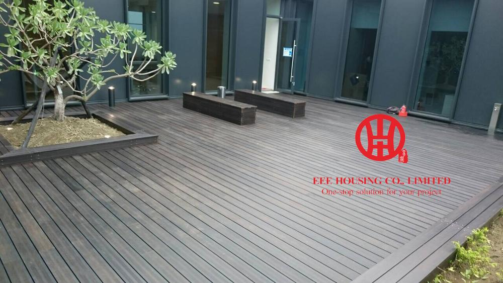 20mm Waterproof Carbonized Bamboo Outdoor Decking