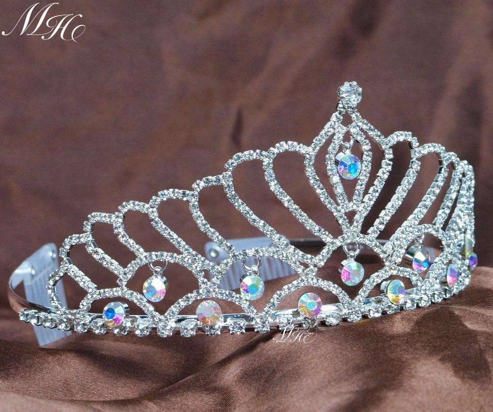 تيجان ملكية  امبراطورية فاخرة Heart-Tiaras-w-Hair-Combs-Austrian-Rhinestone-Diadem-Clear-Crystal-Crowns-Wedding-font-b-Bride-b