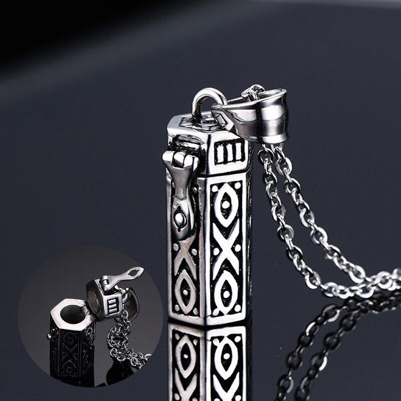 Mprainbow hommes colliers tubulaire ouvrable souvenir bijoux en acier inoxydable pendentif unisexe bijoux Collier, 20 pouces