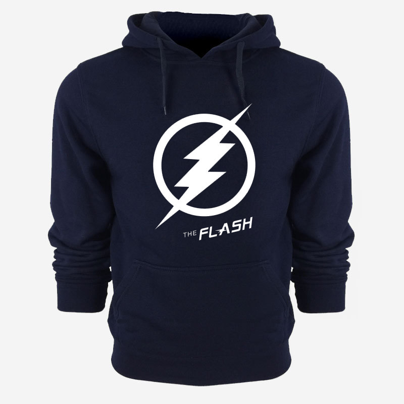 MIDUO 2018 New The Flash Pullover hoodie Anime Justice League Hooded Fleece Hoodies Zipper Men Sweatshirts Hot Sale USA EU size