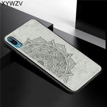 Huawei Y6 Pro 2019 Textura De Pano À Prova de Choque Suave Silicone TPU Phone Case PC Duro Para O Huawei Y6 Pro 2019 Tampa huawei Y6 Pro 2019