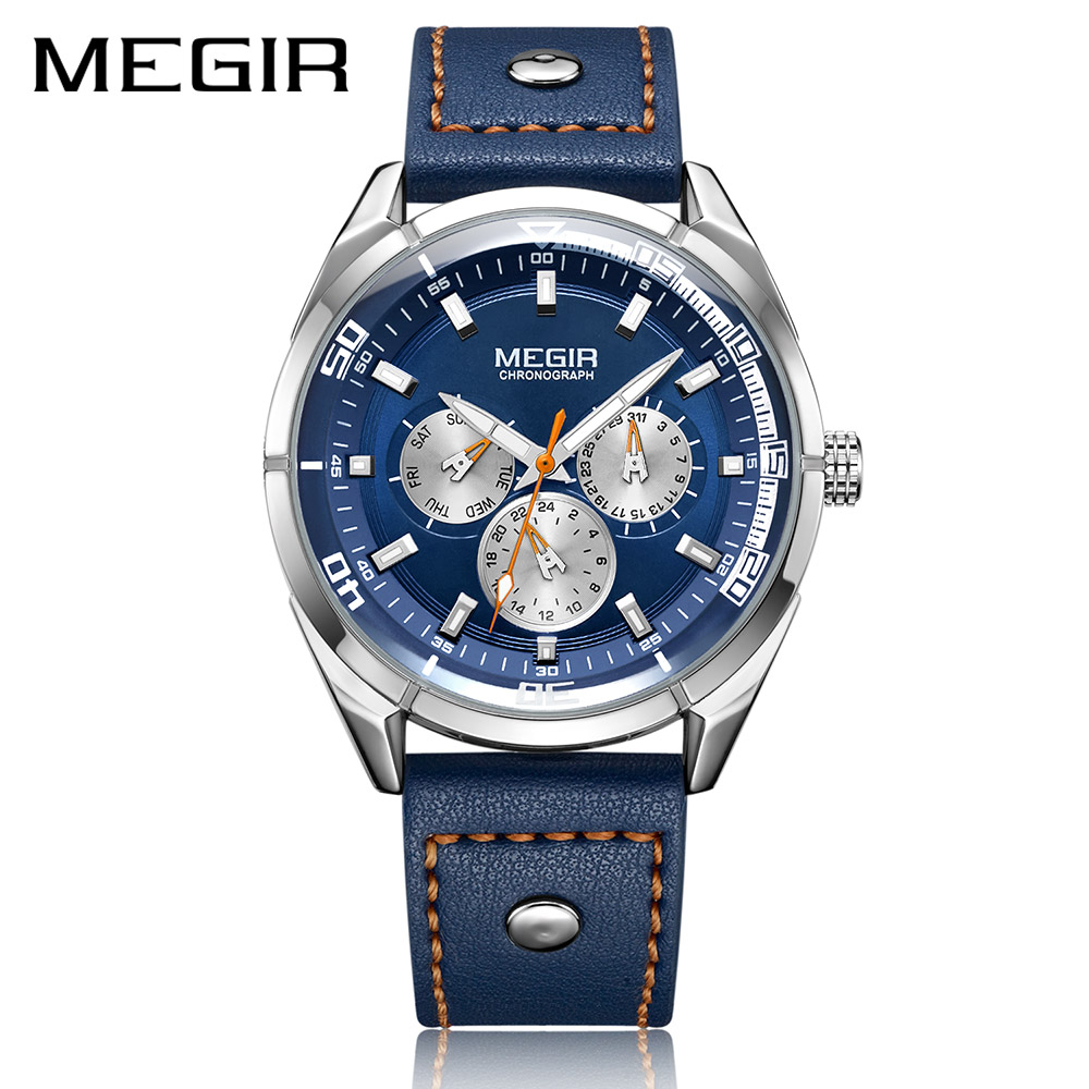 MEGIR Creative Army Military Watches Men Luxury Brand Quartz Sport Wrist Watch Clock Men Relogio Masculino Erkek Kol Saati megir brand business watch fashion luxury leather men quartz watches military wristwatch clock erkek kol saati relogios 1046
