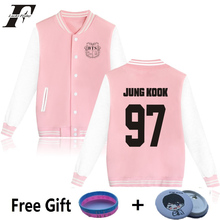 LUCKYFRIDAYF women kpop BTS Bangtan Boys baseball uniform Jungkook jhope jin jimin v suga long sleeve jacket hoody Sweatshirt