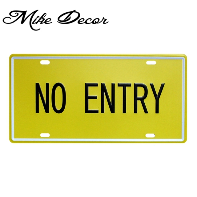 Mike86 ] NO ENTRY Metal Painting Home Bar Pub Wall Plaque Tin Sign ...