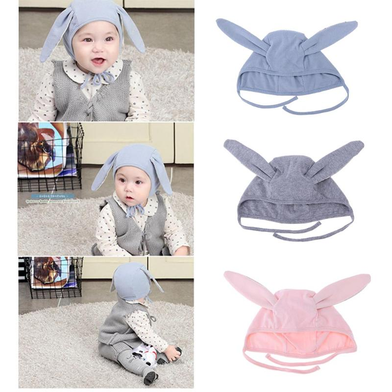 Autumn Winter Toddler Infant Knitted Baby Hat Adorable Rabbit Long Ear Hat Baby Bunny Beanie Cap Photo Props Earflap Caps