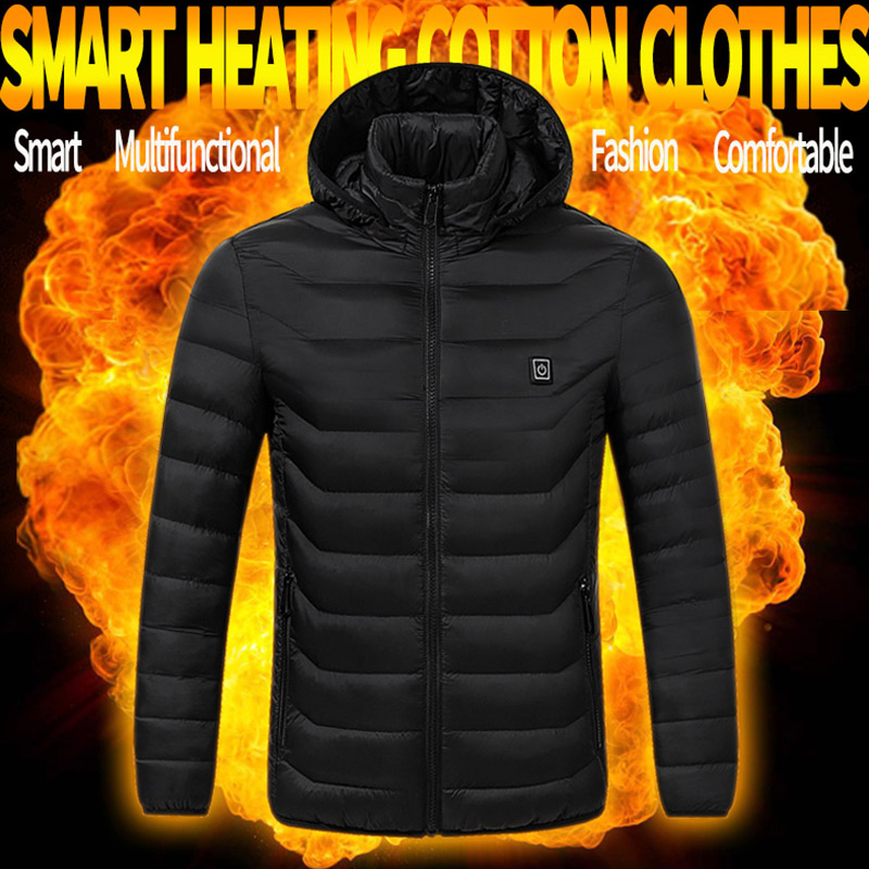 USB Smart Charging Heating Jacket Winter Thermal Clothing Body Heating Warm Thermostatic Clothes (Power bank not included)-in Safety Clothing from Security & Protection