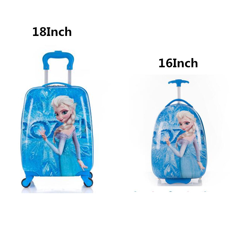 Trolley Bags Suitcase Travel-Bag Rolling-Luggage Carry-Ons Spinner Cartoon Kid's