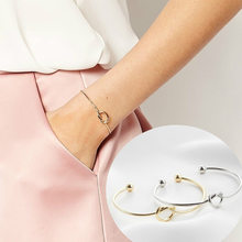 1 Pcs Sell A-T Fashion Cuff Bracelets Rose Gold/Silver Alloy Letter Snake Chain Charm Bracelet Female Personality Jewelry(China)