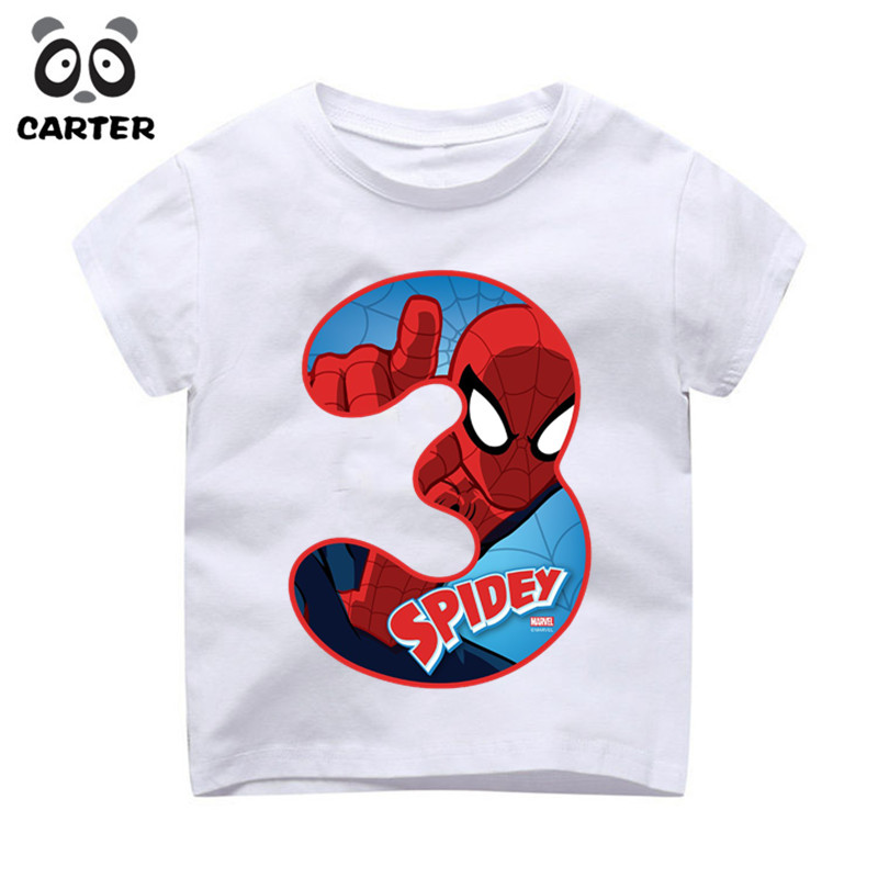 Dropwow Kids Happy Birthday Avengers Number 19th T Shirts Boy And