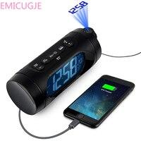 Electronic Desk Table Projector Watch With Night Light Snooze Nixie Clock USB Charging FM Radio Alarm Clock LED Digital