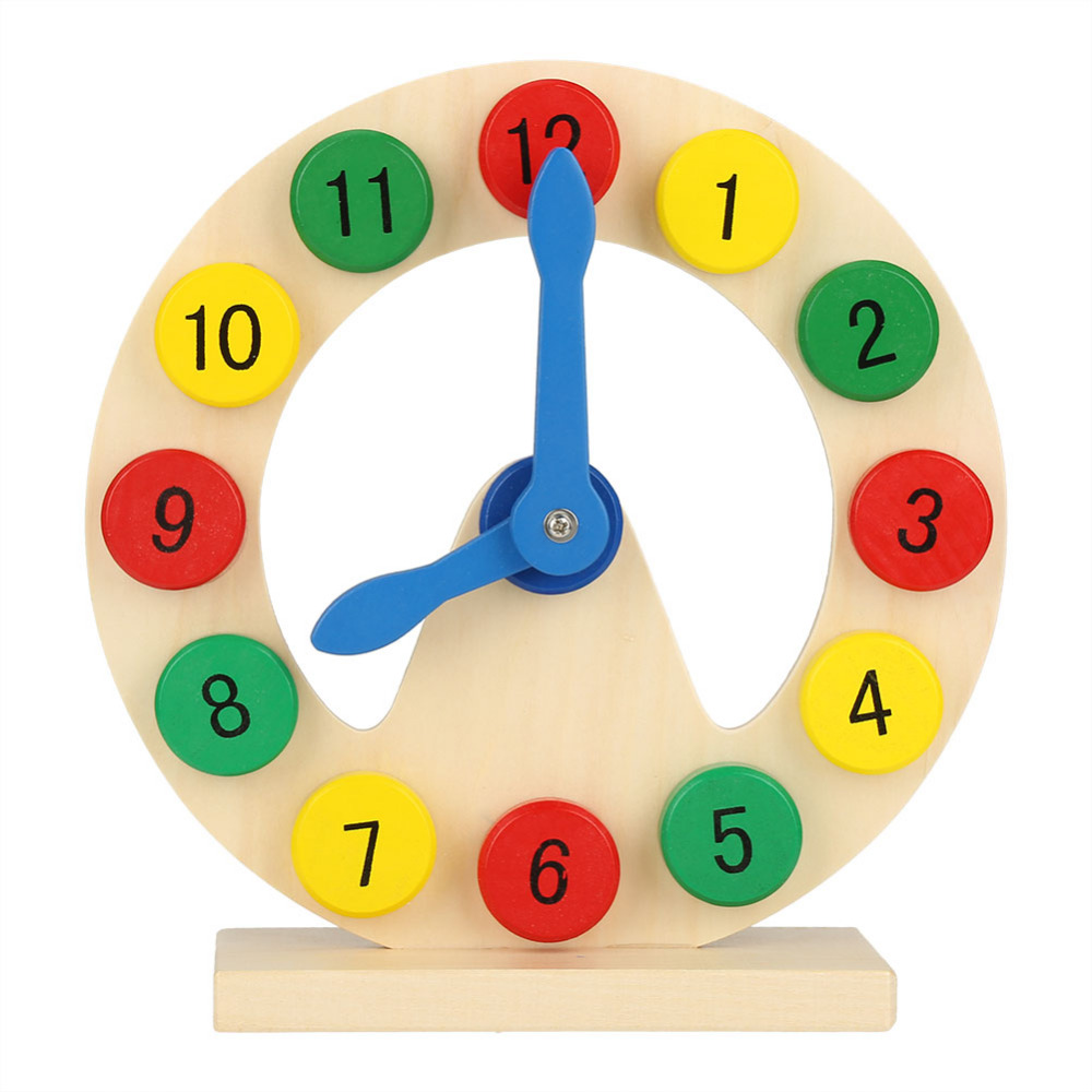 Wooden Toy Kid Soft Montessori Digital Clock Baby Number Time Learning Gift Intelligent Creative Interactive Toys Brinquedo