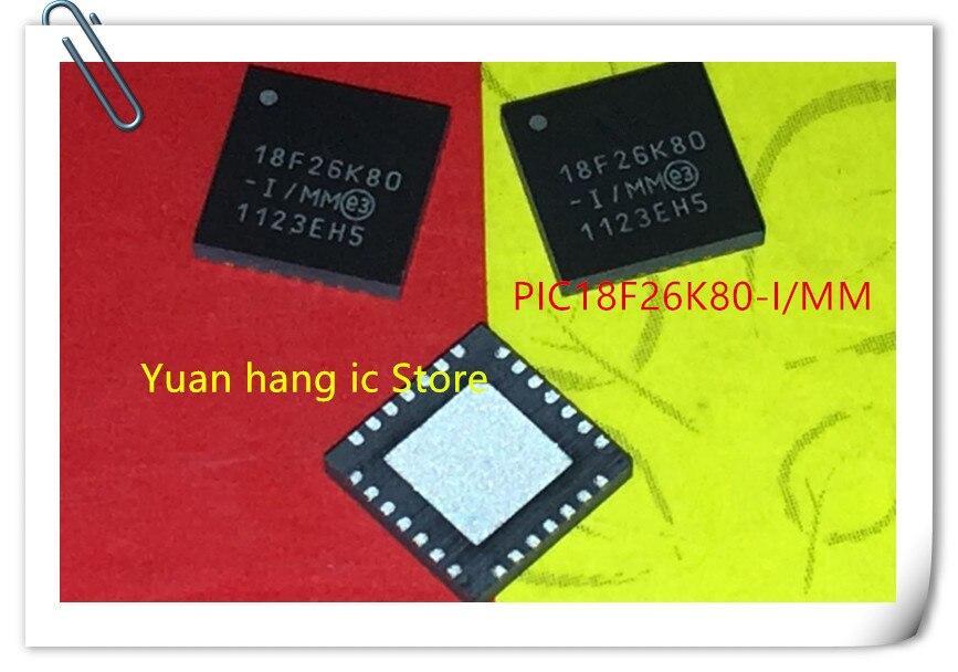 10PCS PIC18F26K80-I/MM PIC18F26K80 18F26K80 -I/MM QFN  In Stock