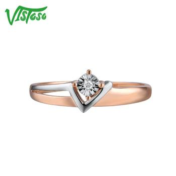 Two-Tone Gold Sparkling Diamond Ring 1