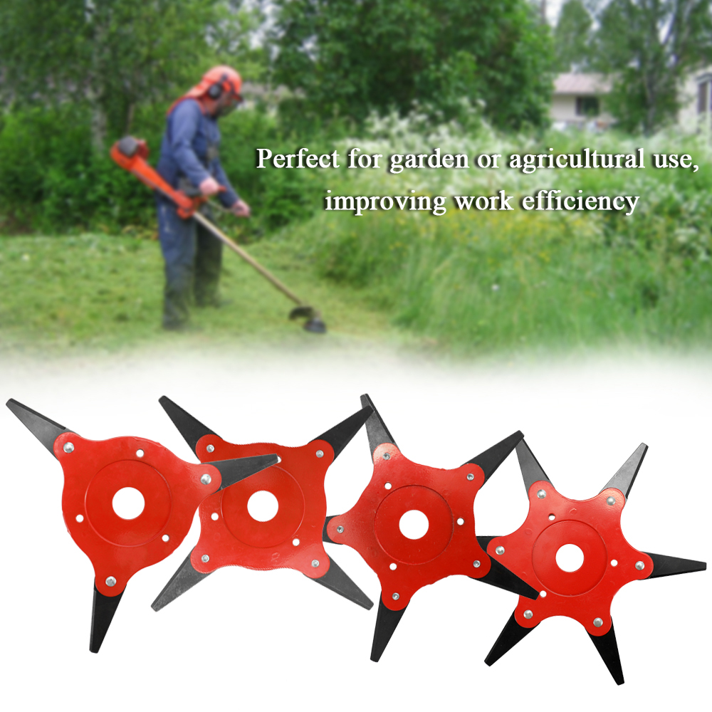 KKMOON Rotatable Universal Garden Grass Trimmer Head Lawn Mower Blade Brushcutter Accessories with Double sided Cutting Edge in Pole Saws from Tools