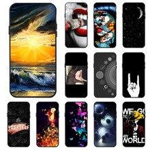 Ojeleye Fashion Black Silicon Case For Xiaomi Mi5s Cases Anti-knock Phone Cover Mi 5S 5.15 inch Covers