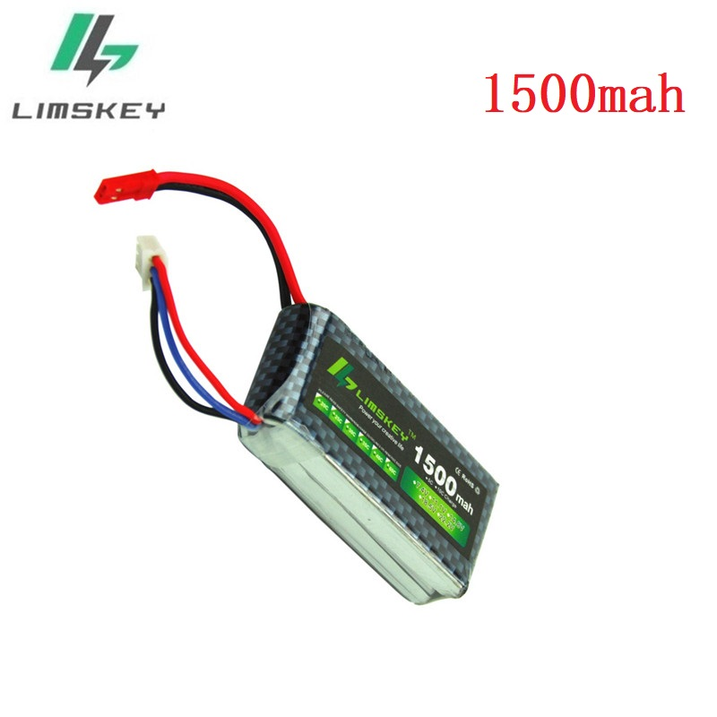 Limskey Power 2S 7.4V 1500mAh 25C Best RC Drones Lipo Battery Pack Universal For RC Drone 2s 7.4v Battery With JST Plug