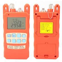 AUA-80A Portable All in All Fiber Optical Power Meter Visual Fault Locator Fiber Optic Cable Tester(China)