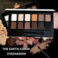 Women 12 Colors Nude Earth Color Eyeshadow Palette Matte Glitter Smoky Eyeshadow Cosmetic Kit