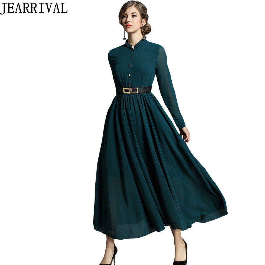 2018 Spring ladies elegant lace meshed beaded long dress pinched ...