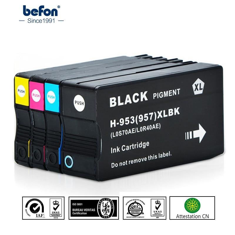 Befon 953XL Cartuccia di Inchiostro di Ricambio per HP 953 HP953 XL OfficeJet Pro 7740 8210 8710 All-in-One Printer 8720 8725 8728 8730