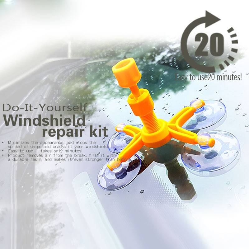 Car Windshield Glass Repair Tool Kit DIY For Auto Window Windscreen Chip Crack CLH@8