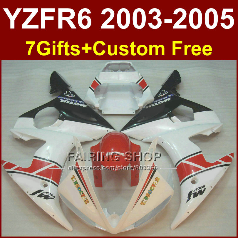 NEW! Pure white body repair parts for YAMAHA R6 Motorcycle fairings sets 03 04 05 YZF R6 2003 2004 2005 fairing kit LFEX kemimoto r6 motorcycle complete full set of fairing bolts bolt kit body screws for yamaha yzf r6 2006 2007 r6