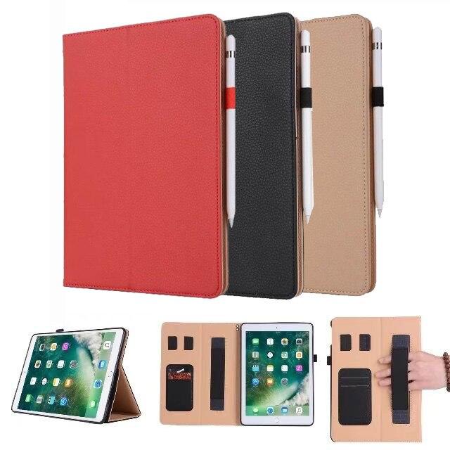 e4af7f5b763 Retro Aktetas Hand Riem Houder Case Voor iPad Pro 10.5 inch PU Leer Met  Stand Flip Creditcard Pen Slots Portemonnee Mouw in Retro Aktetas Hand Riem  Houder ...