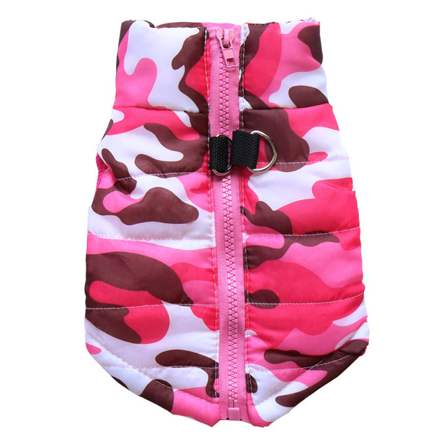 Waterproof Dog Coat Winter Puppy Clothes Camo Pattern Small Dog Jacket Chihuahua Yorkie Clothing 2