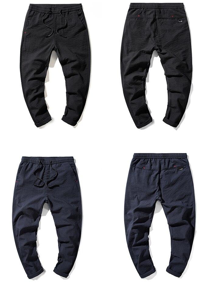HTB1Hgv.RYvpK1RjSZPiq6zmwXXat Jantour 2019 Fashion Men Pants Slim Fit Spring summer High Quality Business Flat Classic Full Length thin Casual Trousers male