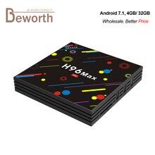 4GB 32GB RK3328 TV Box Android 7.1 Quad Core Smart Mini PC Dual Band Wifi 2.4G/5G Bluetooth Streaming Media Player 4K USB 3.0
