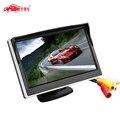 NOVO 5.0 Polegada Monitor Do Carro TFT LCD 800*480 Cor Ecrã 16:9 2 Vias de Entrada de Vídeo Para câmera de Visão Traseira Reversa de Backup Camera DVD