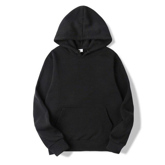 2018 New Casual pink black gray blue HOODIE Hip Hop Street wear Sweatshirts Skateboard Men/Woman Pullover Hoodies Male Hoodie 1
